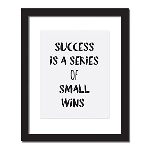 Best Success gift, Success Is a Series Of Small Wins, Inspirational Quote  Print for the Office and Home, Motivational Poster. 5x7 or 8x10 or 11x14.  ...