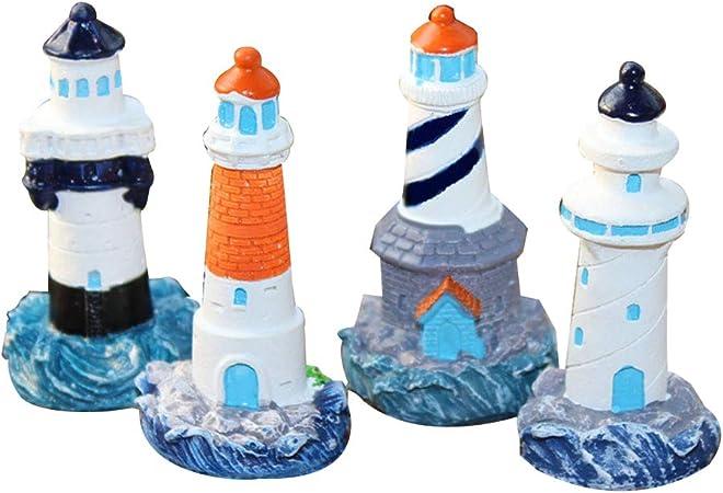 YeahiBaby 4 Stücke Mini Leuchtturm Deko Maritime Dekoration ...