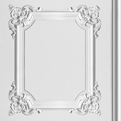 muriva ornate panel white