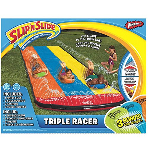 Slip N' Slide Triple Racer with Slide Boogie Board
