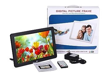 Marco de imagen digital de 12 con sensor de movimiento HD 1280x800 Marco de