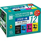 エコリカ ブラザー(Brother)対応 リサイクル インクカートリッジ 4色パック LC124PK ECI-BR124P/BOX