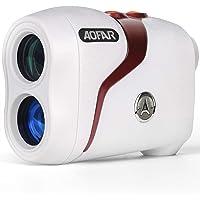 AOFAR GX-3N Telémetro de Golf Flag-Lock con vibración, 800 Metros RangeFinder, 6X 25mm a Prueba de Agua, Estuche de…