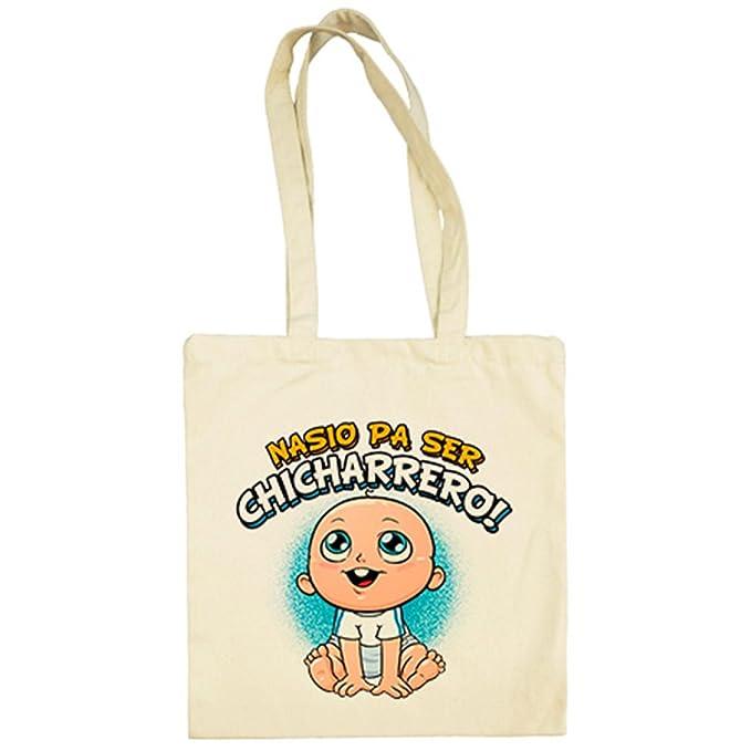 Bolsa de tela nacido para ser Chicharrero Tenerife fútbol - Beige, 38 x 42 cm: Amazon.es: Ropa y accesorios