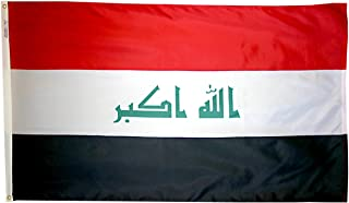 product image for Annin Flagmakers Model 193855 Iraq Flag 3x5 ft. Nylon SolarGuard Nyl-Glo 100% Made in USA to Official United Nations Design Specifications.