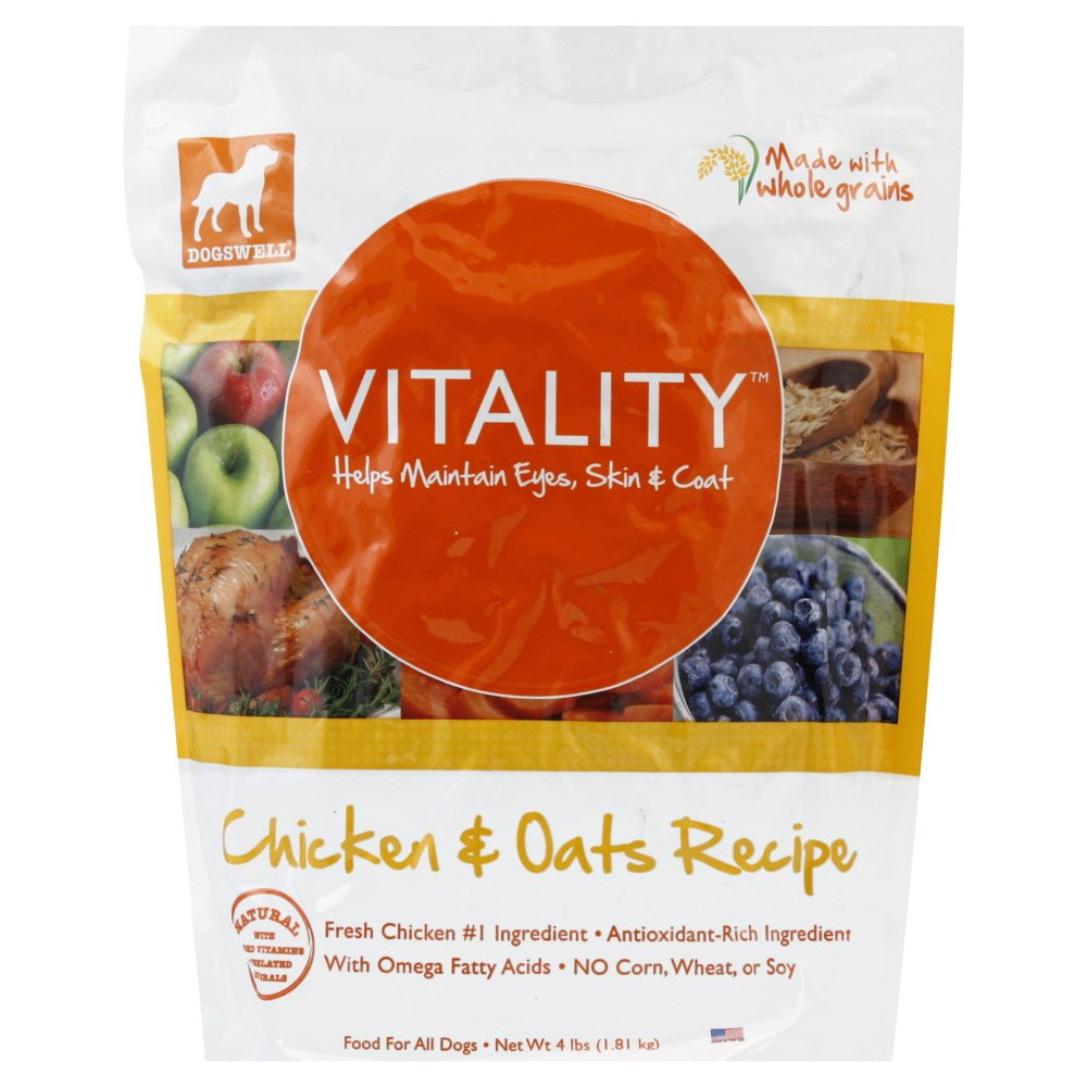 4 Pound and 6 per case DOGSWELL TREAT CHKN OATS VITALTY, 4 LB by Dogswell