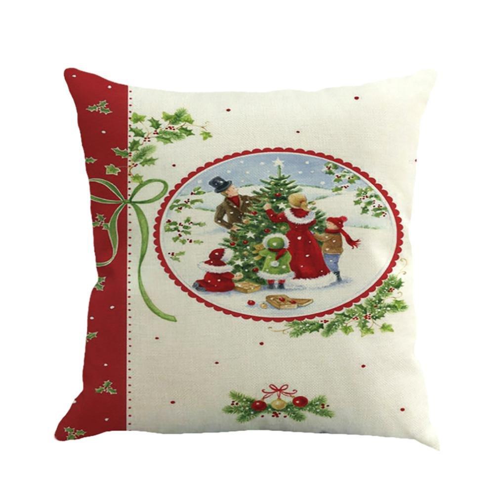 elacoクリスマス印刷Dyeingソファベッドホーム装飾枕カバークッションカバー free size Elaco1548 B075R8HHZ8 D D