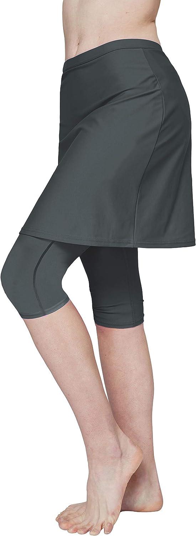 Westkun Mujer Tallas Grandes Swim Falda Pantalones Cortos de Cintura Alta Pantalones de Pico Color s/ólido Surf de Playa Atl/ético Correr Faldas Capri
