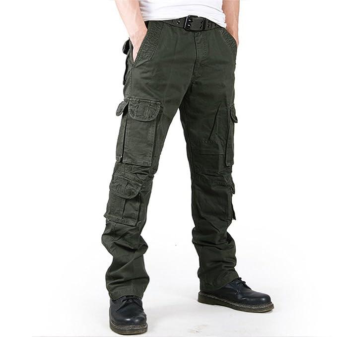 Amazon.com: dapengzhu Hombres Moda pantalones de camuflaje ...