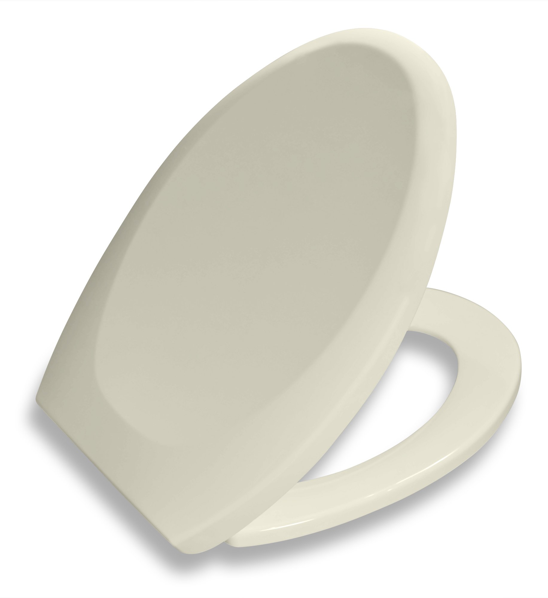 Bath Royale Premium Elongated Toilet Seat with Cover, Almond-Bone, Slow-Close, Quick-Release for Easy Cleaning. Fits All Elongated (Oval) Toilets