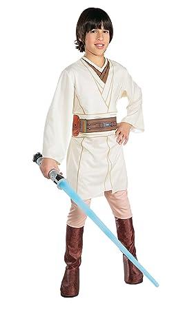 Rubies Costume Star Wars - Disfraz de Obi-Wan Kenobi para niño, talla L/8- 10 años