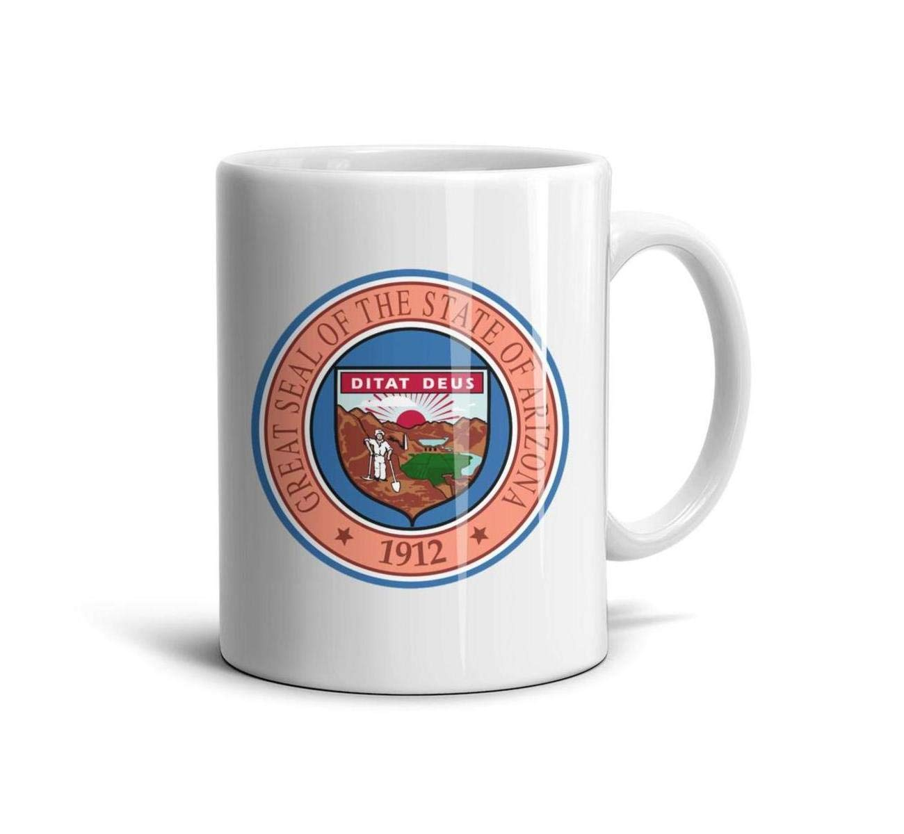 BIAOSD Best Coffee Mug Arizona Emblem Funny Mug Gifts Mug Cup 11oz for Men Women