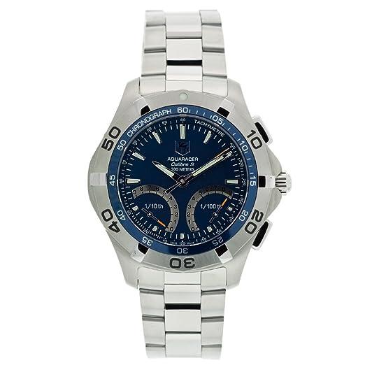 TAG Heuer CAF7012.BA0815 - Reloj de Pulsera Hombre, Acero Inoxidable, Color Plata: Amazon.es: Relojes
