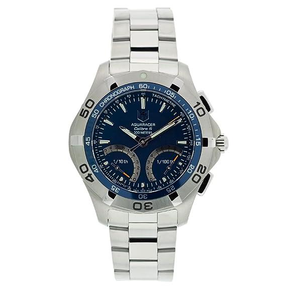 TAG Heuer CAF7012.BA0815 - Reloj de Pulsera Hombre, Acero Inoxidable, Color Plata