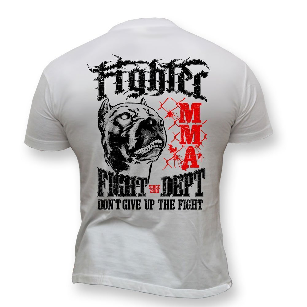 Dirty Ray MMA Fighter Don't Give Up the Fight t-shirt homme K50
