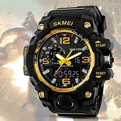 Amazon.com: Relojes de Hombre 2018 Reloj LED Sport Water Resistant Watch Digital Men RE0105: Watches