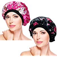 2 Pieces Soft Sleep Caps – Night Satin Bonnet with Wide Premium Elastic Band, Salon Bonnet Hair Loss Sleeping Cap for Women