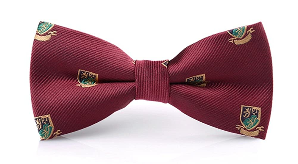 P/&R Adjustable Formal Shield Bow Tie for Men Red