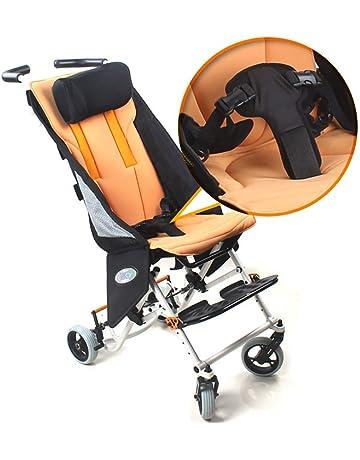 HSRG Niño Viaje Silla de Ruedas, aleación de Aluminio Plegable niño Ligero Trolley Scooter niños
