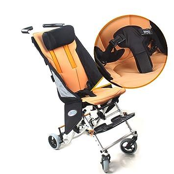 HSRG Niño Viaje Silla de Ruedas, aleación de Aluminio Plegable niño Ligero Trolley Scooter niños Manual Silla de Ruedas: Amazon.es: Deportes y aire libre