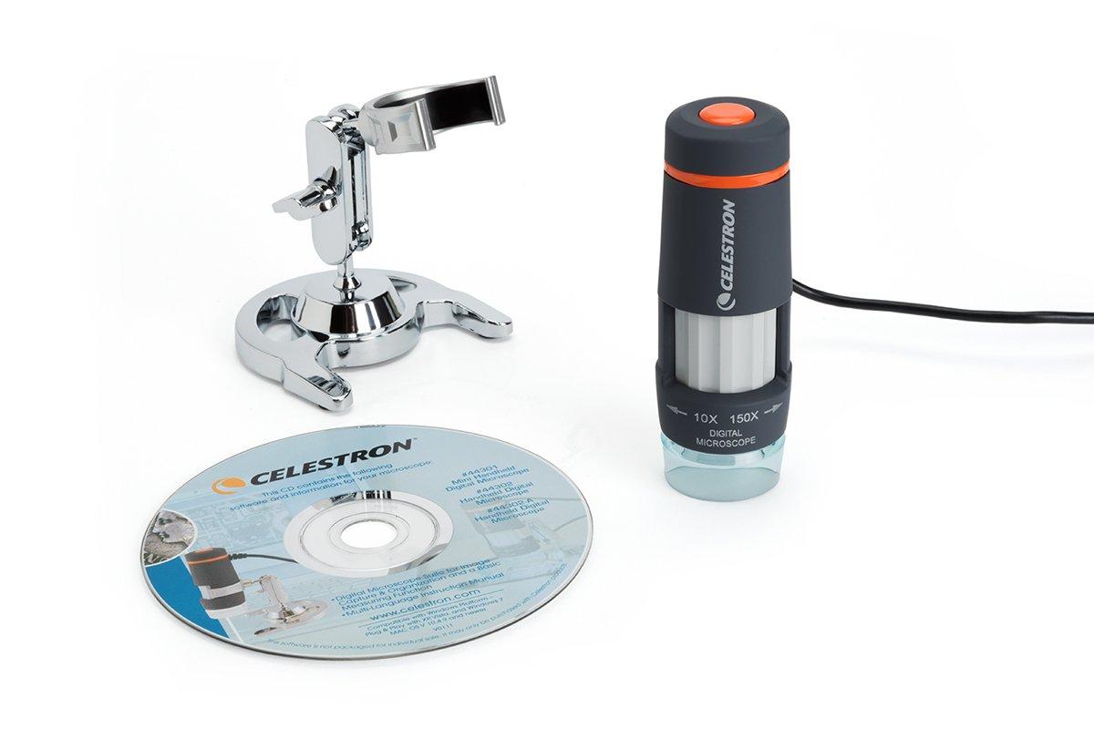 Microscopio digital port/átil color negro y aluminio Celestron Deluxe