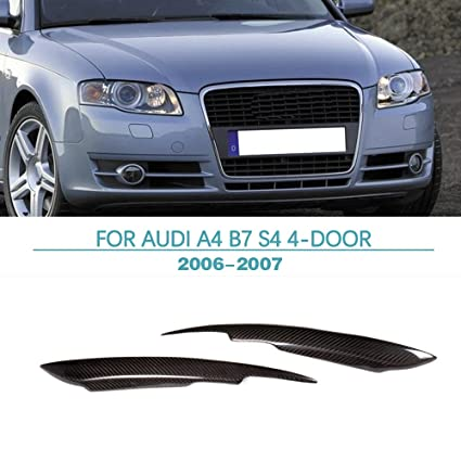 Amazoncom Headlight Eyebrow For AUDI A B S Carbon - 2007 audi a4 headlights