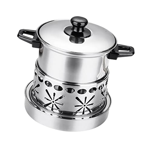 22669bc6418c Amazon.com: Homyl Stainless Steel Shabu Shabu Thick Cookware Hot Pot ...