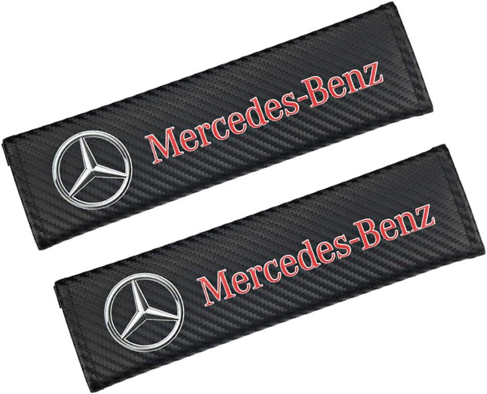 QIEP 2 Pcs en Fiber De Carbone Marque De Voiture De S/écurit/é Couverture De Ceinture De S/écurit/é /Épauli/ère De Voiture pour Mercedes Benz AMG A B R G Classe GLK GLA C200 E200