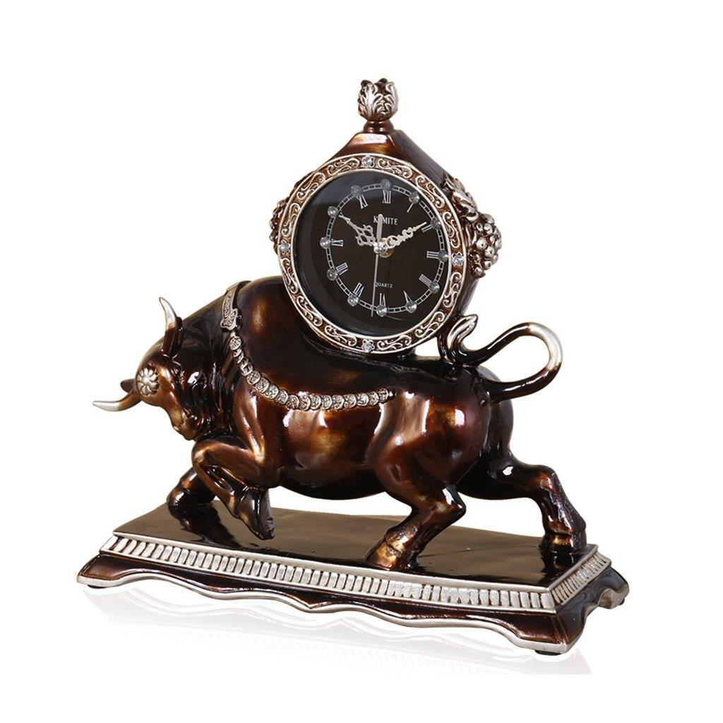 CFJRBレトロミュート時計/樹脂マントルテーブル時計のインテリアリビングルームとベッドルーム B07D1KQ7YJ