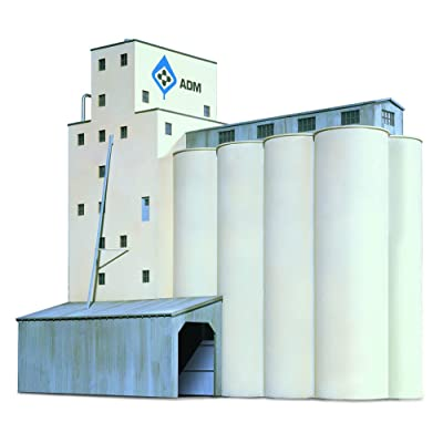 Walthers Cornerstone N Scale Model SeriesN Scale ADM174 Grain Elevator: Toys & Games