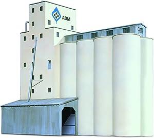 Walthers Cornerstone N Scale Model SeriesN Scale ADM174 Grain Elevator