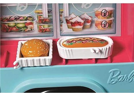 Amazon.es: Barbie Restaurante sobre ruedas, moto de muñeca (Mattel FHR08): Juguetes y juegos