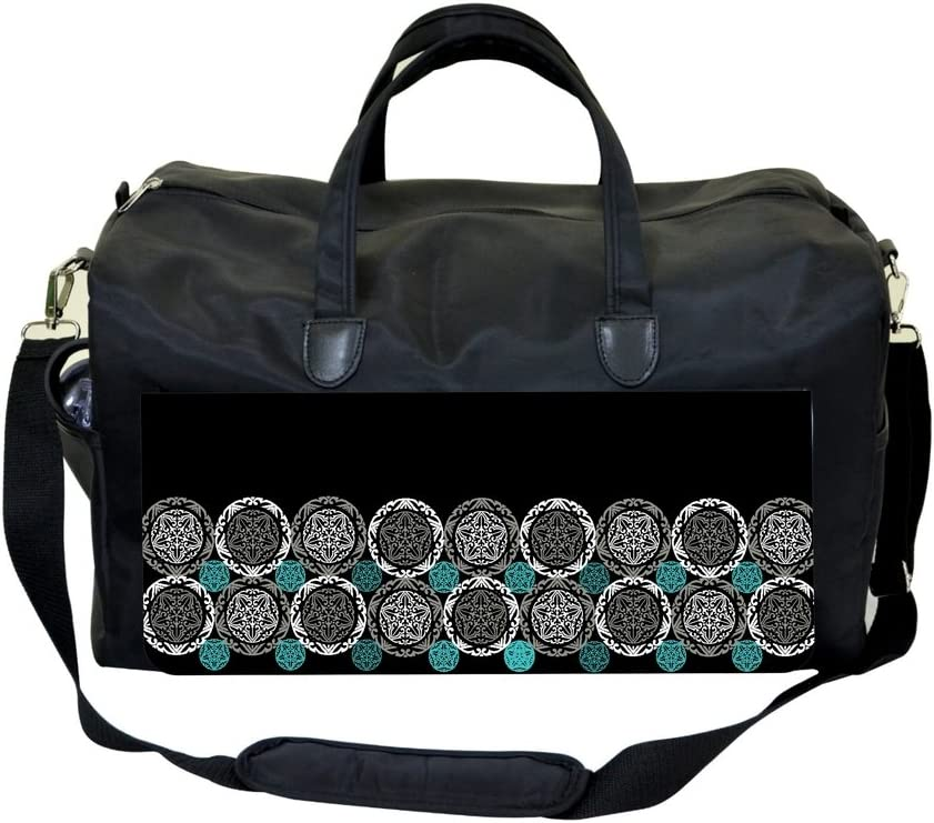 Jacks Outlet Floral Circles Sports Bag