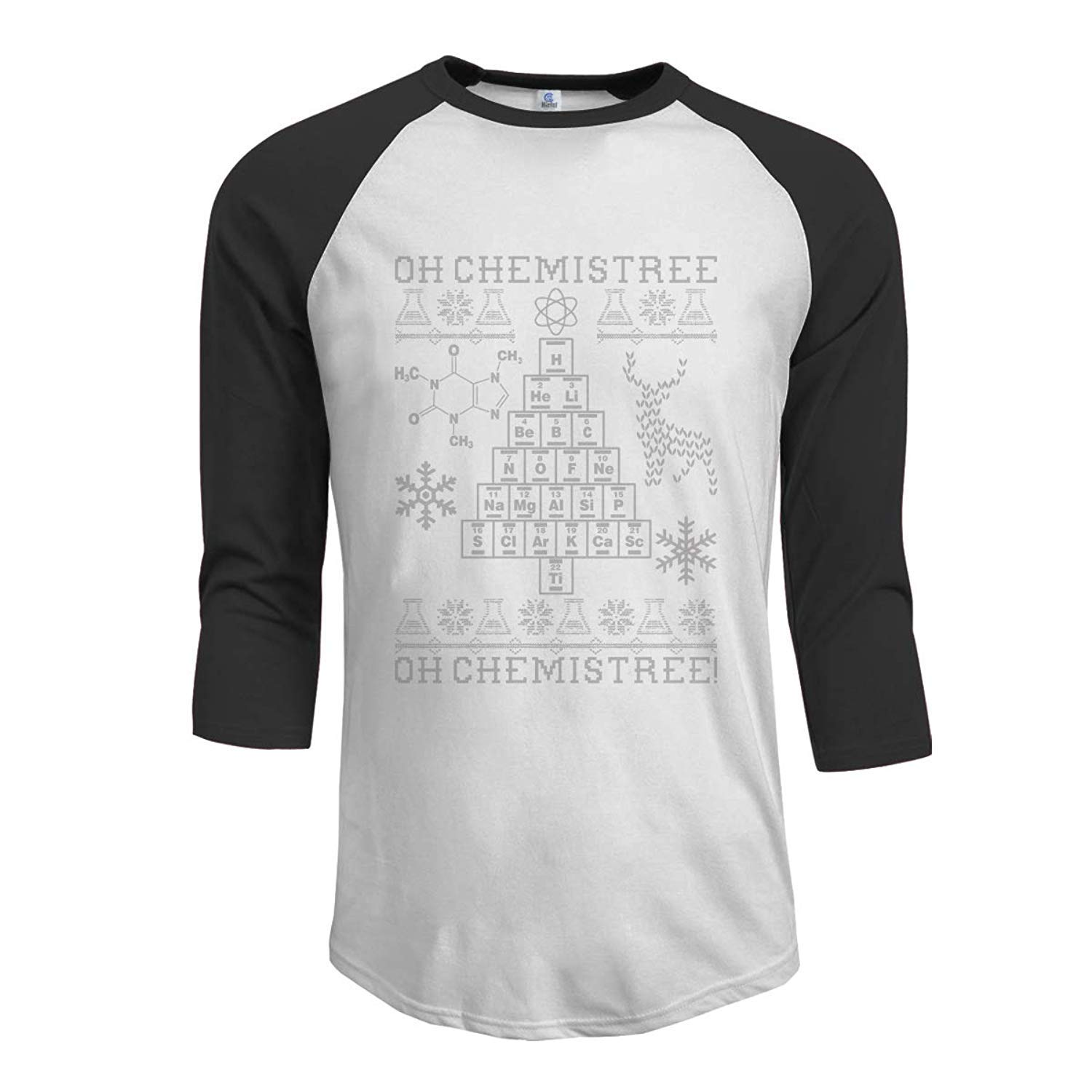 Oh Chemistree Oh Chemistree Ugly Christmas Chemistry Adult Mens Long-Sleeved T-Shirt