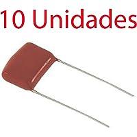 10X Condensador poliester no polarizado 10 mm 630V