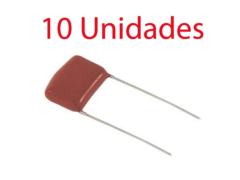 10X Condensador poliester no polarizado 10 mm 630V 4,7 NF 0,47uF ...