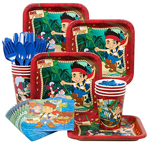 Jake and the Neverland Pirates Party Supplies Standard Kit Serves 8 Guests (Jake The Neverland Pirate Party Supplies)