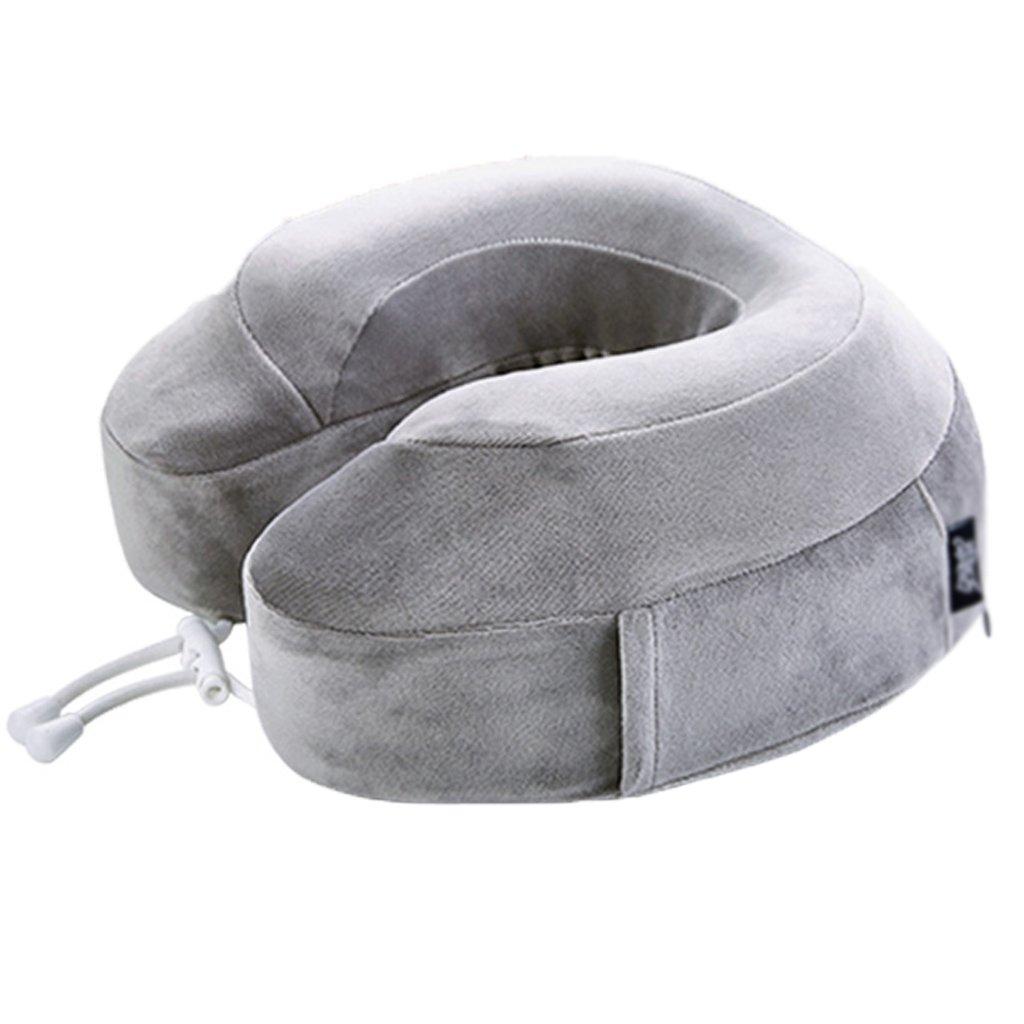 ZHOU LI Kissen Reisekissen Unterstützung für Hals, Kopf, Memory Foam, leicht, tragbar, weich (Farbe : Grau)