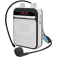 APROTII K5 Megáfono portátil Bluetooth inalámbrico amplificador de voz profesor micrófono altavoz altavoz soporte TF…