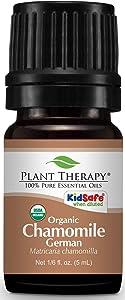 Plant Therapy Chamomile German Organic Essential Oil 5 mL (1/6 oz) 100% Pure, Undiluted, Therapeutic Grade