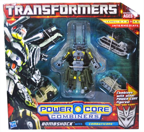 Transformers Power Core Combiners Series Robot Action Figure - BOMBSHOCK Commander with 4 Combaticons (Missile Carrier Drone, Tank Drone, APC Drone and Armored Car Drone) by Hasbro