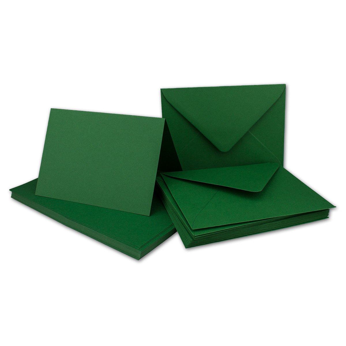 Faltkarten Set mit Brief-Umschlägen DIN A6   C6 in Rosanrot   100 Sets   14,8 x 10,5 cm   Premium Qualität   Serie FarbenFroh® B079ZW33XQ | Wunderbar