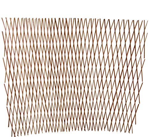 Master Garden Products WCFF-36X Carbonized Barkless, 360 by 30-Inch Willow Expandable Lattice Fence, H x W, Brown -