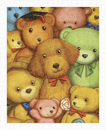 Pintoo - H1124 - SMART - Poodle and Teddy Bears - 500 Piece Plastic Puzzle