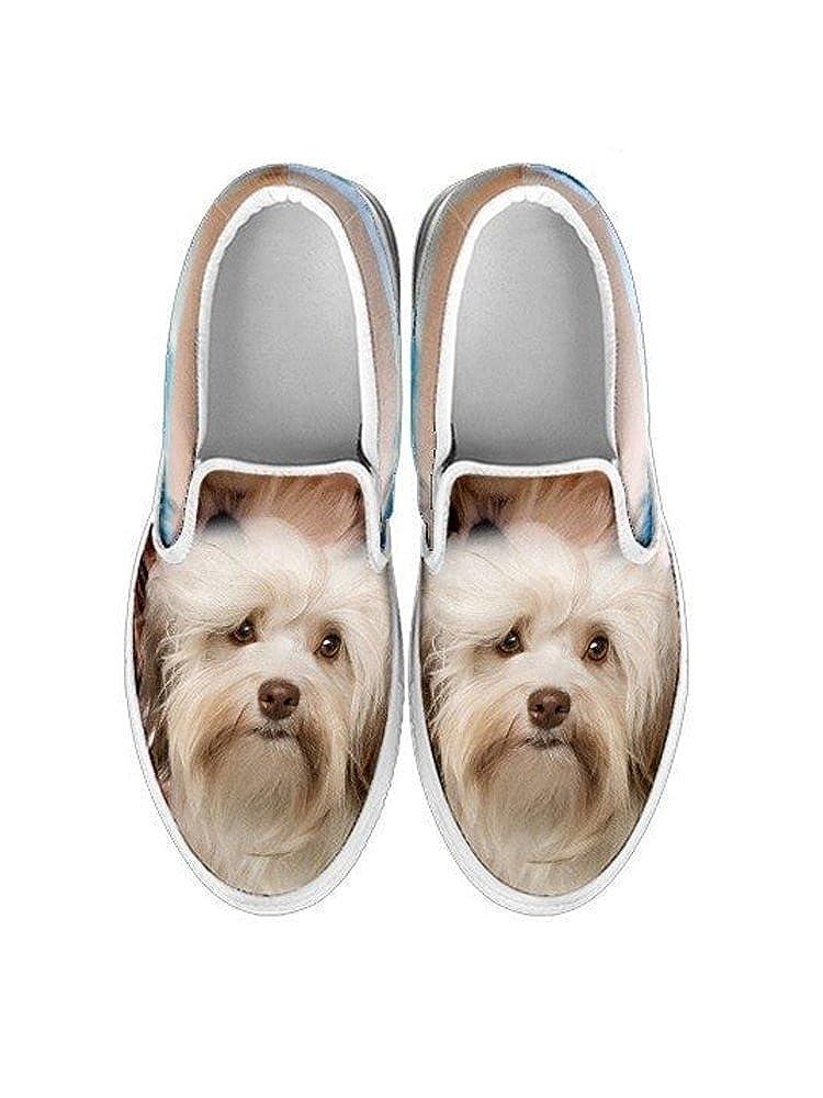 for Havanese Lovers E/&E Solutions Havanese Dog Print Slip Ons Shoes for Women