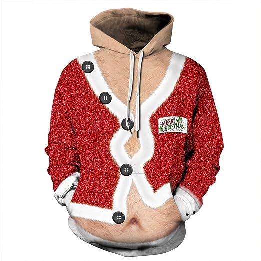 OOFAYHD Navidad impresión Digital con Capucha suéter, Traje ...