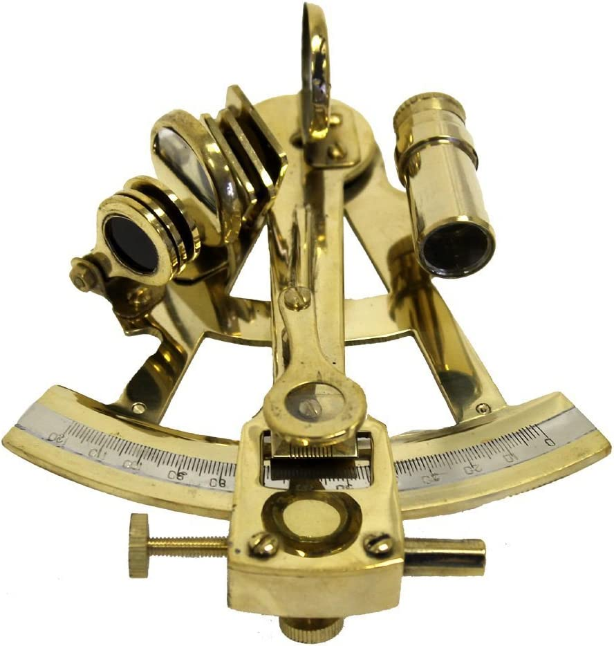 5 Everything Nautical Solid Brass Sextant Brass