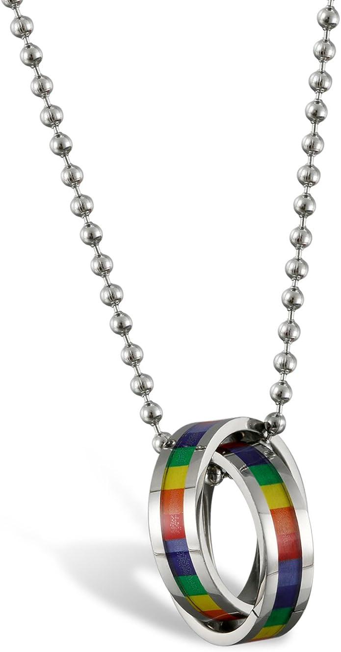 YpS Halskette Halsband Lesbisch Schwul Regenbogen CSD Statement Kette DifY