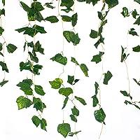 5 Dal Sarmaşık Yaprak Yapay Bitki - Beşgen