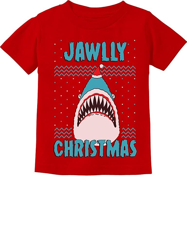 TeeStars - Jawlly Christmas Shark Ugly Christmas Toddler Kids T-Shirt 2T Red GMPlhZhgm5Phm59to